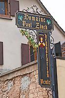 wrought iron sign dom paul zinck eguisheim alsace france