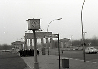 """East & West Berlin Nov 1976 - <br /> <br /> Jeff Thomas Photography -  www.jaypics.photoshelter.com - <br /> e-mail swansea1001@hotmail.co.uk -<br /> Mob: 07837 386244 -<br /> <br /> The Brandenburg Gate taken from """"No Man's Land"""" <br /> <br /> These pictures were taken before the removal of the Berlin wall. Some of the pictures were taken through the window of a coach on a bitterly cold bleak November day. And some of the negatives have been damaged and not possible to clean thoroughly in case of further damage to them."""
