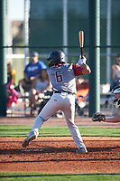 Jordan Matthews (6) of Lee High School in Midland, Texas during the Baseball Factory All-America Pre-Season Tournament, powered by Under Armour, on January 13, 2018 at Sloan Park Complex in Mesa, Arizona.  (Zachary Lucy/Four Seam Images)