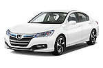 2014 Honda Accord Plug In Hybrid Sedan Angular Front Stock Photo