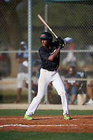 Everett Cooper (6) during the WWBA World Championship at Lee County Player Development Complex on October 8, 2020 in Fort Myers, Florida.  Everett Cooper, a resident of Owings Mills, Maryland who is homeschooled and committed to Alabama.  (Mike Janes/Four Seam Images)