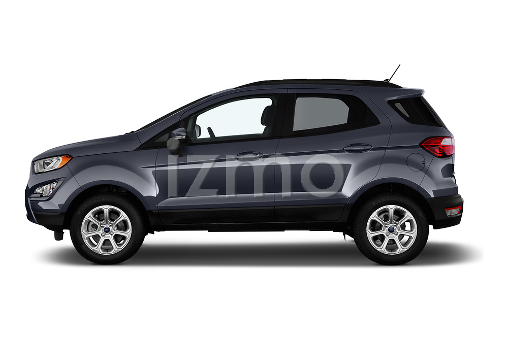 Car driver side profile view of a 2018 Ford EcoSport SE 5 Door SUV