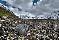Rockslides above Eagle Lake, Alaska. HDR