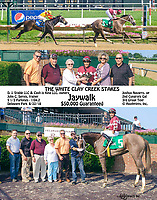 Jaywalk winning The White Clay Creek Stakes at Delaware Park on 8/122/18<br /> To see another version of this search: Jaywalk, winphoto