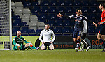 Ross County v St Johnstone...05.12.15  SPFL  Dingwall<br /> Alan Mannus and Joe Shaughnessy look on as Liam Boyce gets a goal back<br /> Picture by Graeme Hart.<br /> Copyright Perthshire Picture Agency<br /> Tel: 01738 623350  Mobile: 07990 594431
