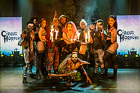 BNPS.co.uk (01202 558833)<br /> Pic: MaxWillcock/BNPS<br /> <br /> Pictured: The cast of The Circus of Horrors.<br /> <br /> The Circus of Horrors cast prepare for their evening performance at the Tivoli Theatre in Wimborne Minster, Dorset as part their tour of UK. The Circus of Horrors is a British-based contemporary circus, they were first seen performing at the Glastonbury Festival in 1995.