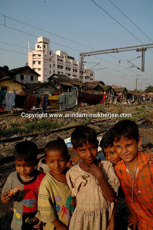 Children in the Govindapur slum area of Calcutta,  India  Arindam Mukherjee