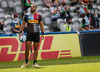 29th May 2021; Twickenham Stoop, London, England; English Premiership Rugby, Harlequins versus Bath; Marchant upset with his try being disallowed