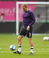 20th April 2021; Liberty Stadium, Swansea, Glamorgan, Wales; English Football League Championship Football, Swansea City versus Queens Park Rangers; Ryan Bennett of Swansea City during the warm up