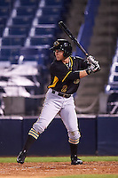 Bradenton Marauders right fielder Jeff Roy (2) at bat during a game against the Tampa Yankees on April 11, 2016 at George M. Steinbrenner Field in Tampa, Florida.  Tampa defeated Bradenton 5-2.  (Mike Janes/Four Seam Images)