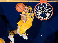 Jorge Gutierrez of California tosses the ball into a basket during the game against Arizona at Haas Pavilion in Berkeley, California on February 2nd, 2012.  Arizona defeated California, 78-74.