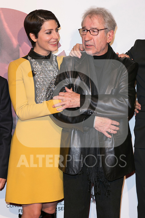 """Barbara Lennie and Jose Sacristan attend the Premiere of the movie """"MAGICAL GIRL"""" at Callao Cinemas in Madrid, Spain. October 16, 2014. (ALTERPHOTOS/Carlos Dafonte)"""