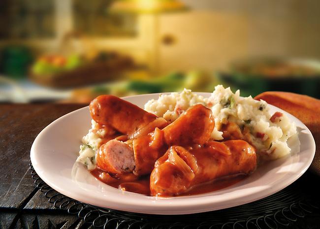 British Food - Sausage & Mash
