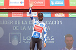Damiano Caruso (ITA) Bahrain Victorious wins Stage 9 and takes over the mountains Polka Dot Jersey of La Vuelta d'Espana 2021, running 188km from Puerto Lumbreras to Alto de Velefique, Spain. 22nd August 2021.     <br /> Picture: Luis Angel Gomez/Photogomezsport   Cyclefile<br /> <br /> All photos usage must carry mandatory copyright credit (© Cyclefile   Luis Angel Gomez/Photogomezsport)