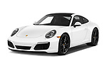 2017 Porsche 911 Carrera-Coupe 2 Door Coupe Angular Front stock photos of front three quarter view
