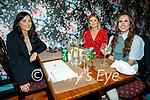 Sarah Coridan, Ciara Leen and Kirby Kissane enjoying the evening in Croi on Friday.