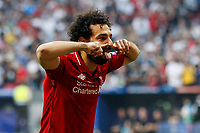 Mohamed Salah of Liverpool celebrates after scoring his side's first goal to make the score 1-0 during the UEFA Champions League Final match between Tottenham Hotspur and Liverpool at Wanda Metropolitano on June 1st 2019 in Madrid, Spain. (Photo by Daniel Chesterton/phcimages.com)<br /> Foto Daniel Chesterton PHC/ Insidefoto