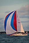 Sailboat Sailing on the Charleston Harbor with Spinnaker