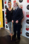 "Spanish chef Samantha Vallejo and Jesuit father Javier Repulles SJ during the presentation of the cookbook ""Recetas con Corazon"" at Barcelo theater in Madrid, Spain, October 26, 2015. <br /> (ALTERPHOTOS/BorjaB.Hojas)"