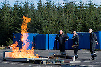 Pictured: Monday 10 October 2016<br /> Re: West and Wales Utilities apprentices will be carrying out the first training in their new fire training kit in Hirwau, Wales, UK.