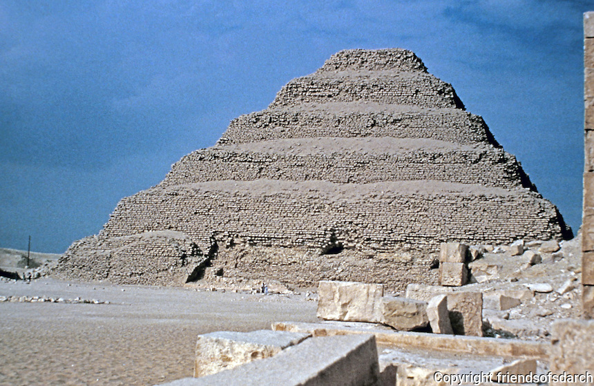 Saccara, a vast, ancient burial ground in Egypt, serving as the necropolis for the Ancient Egyptian capital, Memphis. Oldest all-stone structure in the world.  Pyramid of Djoser, or step pyramid.