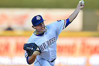 Round Rock Express pitcher Derek Holland (58) delivers a pitch during pacific coast league baseball game, Friday August 14, 2014 in Round Rock, Tex. Reno defeated Round Rock 6-1 to go two up in best of three series. (Mo Khursheed/TFV Media via AP Images)