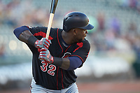 Miguel Sano (32) of the Rochester Red Wings at bat against the Charlotte Knights at BB&T BallPark on May 14, 2019 in Charlotte, North Carolina. The Knights defeated the Red Wings 13-7. (Brian Westerholt/Four Seam Images)