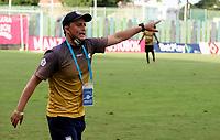 VALLEDUPAR-COLOMBIA, 07-10-2020: Valledupar F. C. y Atletico F. C., durante partido por la fecha 11 del Torneo BetPlay DIMAYOR I 2020 en el estadio Armando Maestre Pavajeau de la ciudad de Valledupar. / Valledupar and Atletico F. C., during a match for the 11th date of the BetPlay DIMAYOR I 2020 tournament at the Armando Maestre Pavajeau de stadium in Valledupar city. / Photo: VizzorImage / Adamis Guerra / Cont.