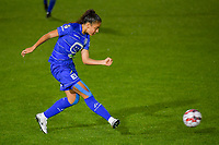 Nia Elyn (4) of AA Gent pictured during a female soccer game between AA Gent Ladies and SV Zulte-Waregem on the fifth matchday in the 2021 - 2022 season of Belgian Scooore Womens Super League , friday 1 October 2021  in Oostakker , Belgium . PHOTO SPORTPIX | STIJN AUDOOREN