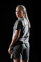 Amy Rodriguez of the Philadelphia Independence during a Women's Professional Soccer photo shoot in Brooklyn, New York on February 17, 2010.