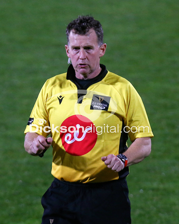 Monday 9th November 2020 | Ulster Rugby vs Glasgow Warriors<br /> <br /> Nigel Owens during the Guinness PRO14 Round 5 match between Ulster Rugby and Glasgow Warriors at Kingspan Stadium in Belfast, Northern Ireland. Photo by John Dickson / Dicksondigital