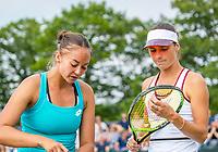 Rosmalen, Netherlands, 11 June, 2019, Tennis, Libema Open, Womans doubles: Lesley Kerkhove (NED) and Bibiane Schoofs (NED) (R)<br /> Photo: Henk Koster/tennisimages.com