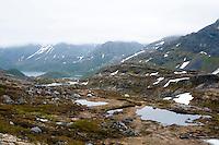 Teltleir i Straumdalen på Seiland. ---- Tent in Seiland.