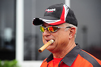 May 1, 2011; Baytown, TX, USA: NHRA pro stock driver V Gaines during the Spring Nationals at Royal Purple Raceway. Mandatory Credit: Mark J. Rebilas-