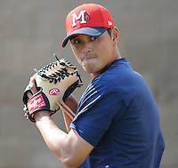 10 April 2008: RHP Sung Ki Jung (31) of the Mississippi Braves, Class AA affiliate of the Atlanta Braves, in a game against the Mobile BayBears at Trustmark Park in Pearl, Miss. Photo by:  Tom Priddy/Four Seam Images