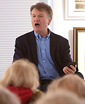 WOODBURY CT. - 29 December 2019-1229SV01-Woodbury's own poet laureate David Bibbey gave a free 1-hour poetry reading on the last day of the inaugural Arts Alliance of Woodbury members exhibition at the library in Woodbury Sunday.<br /> Steven Valenti Republican-American
