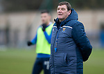 St Johnstone Training…18.10.19<br />Manager Tommy Wright pictured during training this morning at McDiarmid Park ahead of tomorrow's game at St Mirren<br />Picture by Graeme Hart.<br />Copyright Perthshire Picture Agency<br />Tel: 01738 623350  Mobile: 07990 594431