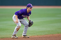 LSU Tigers shortstop Alex Bregman (30) on defense against the Texas A&M Aggies in the NCAA Southeastern Conference baseball game on May 10, 2013 at Blue Bell Park in College Station, Texas. LSU defeated Texas A&M 7-4. (Andrew Woolley/Four Seam Images).