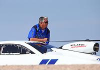 Apr 11, 2015; Las Vegas, NV, USA; NHRA pro stock driver Rodger Brogdon during qualifying for the Summitracing.com Nationals at The Strip at Las Vegas Motor Speedway. Mandatory Credit: Mark J. Rebilas-