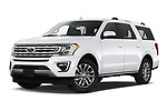 Stock pictures of low aggressive front three quarter view of 2020 Ford Expedition Limited-MAX 5 Door SUV Low Aggressive