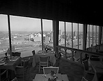 Pittsburgh PA:  View of the Pittsburgh skyline from the LeMont Restaurant on Mount Washington.