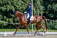 GBR-Yasmin Ingham rides Banzai Du Loir during the Dressage for the CCI-L 4*U25. Interim-1st. 2021 GBR-Bicton International Horse Trials. Devon. Great Britain. Friday 11 June. Copyright Photo: Libby Law Photography