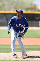 Hector Nelo, Texas Rangers 2010 minor league spring training..Photo by:  Bill Mitchell/Four Seam Images.