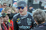 Team Penske driver Josef Newgarden (1) of United States in action before the DXC Technology 600 race at Texas Motor Speedway in Fort Worth,Texas.