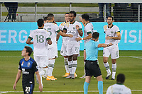 SAN JOSE, CA - SEPTEMBER 19: Jeremy Ebobisse #17 of the Portland Timbers celebrates scoring with teammates during a game between Portland Timbers and San Jose Earthquakes at Earthquakes Stadium on September 19, 2020 in San Jose, California.