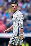 Cristiano Ronaldo of Real Madrid reacts during their La Liga match between Real Madrid and Valencia CF at the Santiago Bernabeu Stadium on 29 April 2017 in Madrid, Spain. Photo by Diego Gonzalez Souto / Power Sport Images