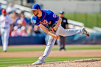 7 March 2019: New York Mets pitcher Eric Hanhold on the mound during a Spring Training Game against the Washington Nationals at the Ballpark of the Palm Beaches in West Palm Beach, Florida. The Nationals defeated the visiting Mets 6-4 in Grapefruit League, pre-season play. Mandatory Credit: Ed Wolfstein Photo *** RAW (NEF) Image File Available ***