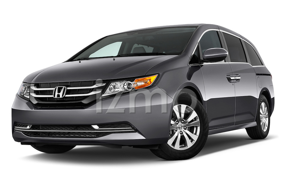 Low aggressive front three quarter view of a 2017 Honda Odyssey EX-L