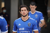 SAN JOSE, CA - AUGUST 8: Cade Cowell #44 of the San Jose Earthquakes before a game between Los Angeles FC and San Jose Earthquakes at PayPal Park on August 8, 2021 in San Jose, California.