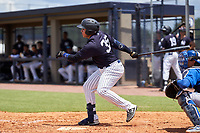 FCL Yankees Stanley Rosario (35) bats during a game against the FCL Blue Jays on June 29, 2021 at the Yankees Minor League Complex in Tampa, Florida.  (Mike Janes/Four Seam Images)